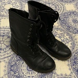 Rampage Women's Black combat boots size 8